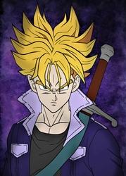 Dragon Ball - Trunks - plakat Wymiar do wyboru: 29,7x42 cm