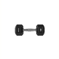 Hantla stalowa gumowana hex pro 8 kg - hms - 8 kg