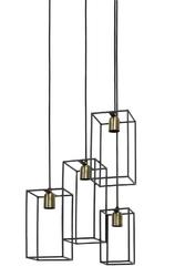 Lampa wisząca marley czarnaantyczny brąz