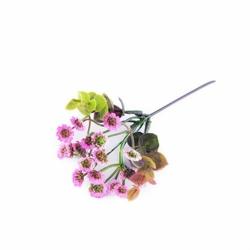 Mini chryzantema sztuczna bukiet różowa