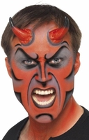 Realistyczne rogi diabła czerwone