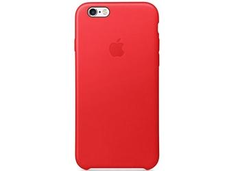 Etui apple iphone 6 plus  6s plus skórzane mkxg2zma red - czerwony