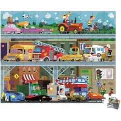 Pojazdy puzzle w walizce 100 el.
