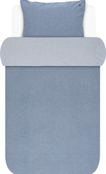 Pościel batystowa marc opolo niebieska 140 x 220 cm z poszewką na poduszkę 60 x 70 cm