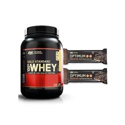 Optimum nutrition - whey gold standard 908 g + optimum protein bar 2x 60 g
