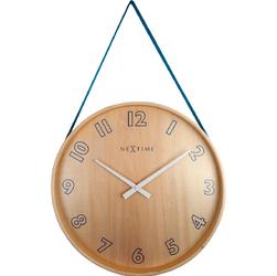 Zegar na ścianę wiszący na taśmie Loop Big Nextime niebieski 3234 BL