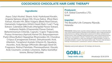 Cocochoco oryginal keratyna do zabiegu prostowania włosów 1000ml