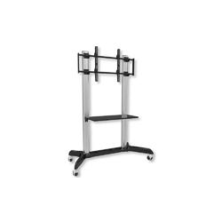 Techly stojak mobilny lcdled 32-70 cali, 128kg z półką, srebrno-czarny