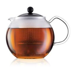 Zaparzacz do herbaty z czarną przykrywką 1 l Assam Bodum