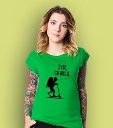 Żyje chwilą - chłopczyk t-shirt damski zielony xs
