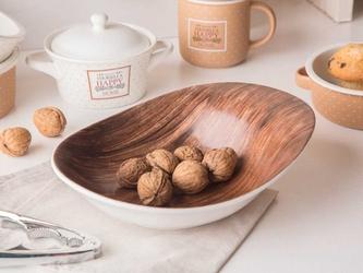 Salaterka  miska porcelanowa nieregularna altom design happy home dek. drewno
