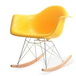 Fotel bujany na taras tunis wood żółty