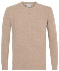 Elegancki beżowy sweter wełniany s