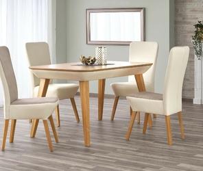 Stół rozkładany racho 140-190x76 cm beżowydąb miodowy