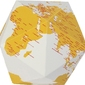 Dekoracja here the personal globe żółta s
