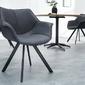 Krzesło z podłokietnikami ingo nowoczesne antyczny szary