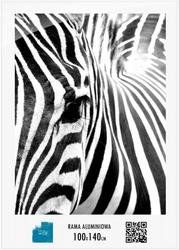 Biała Rama aluminiowa 140x100 cm