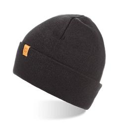 Zawijana czapka zimowa brodrene cz6 czarna