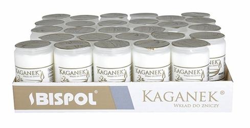 Bispol Kaganek, wkłady parafinowe do zniczy, 2 dni palenia,  27 sztuk