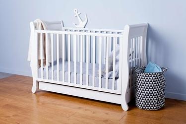 TROLL Romantica łóżeczko dziecięce 120x60 cm Białe