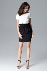 Czarna mini spódnica z marszczeniami