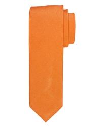 Pomarańczowy krawat jedwabny 7,5cm