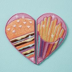 Naszywka punky pins burger  fries bff