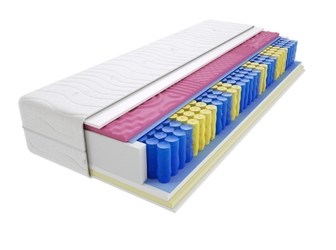 Materac kieszeniowy kolonia molet 200x220 cm średnio twardy visco memory dwustronny