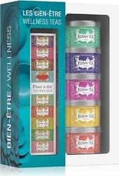 Herbaty kusmi wellness w zestawie z zaparzaczką 5 x 25g