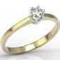 Pierścionek zaręczynowy z żółtego i białego złota z diamentem ap-1716zb - brylant 0,16 ct