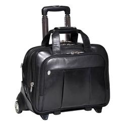 Podróżna torba na kółkach męska walizka mcklein czarna
