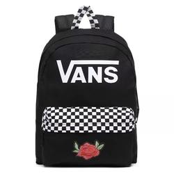Plecak vans realm black checkerboard custom rose - vn0a4drmblk