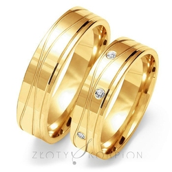 Obrączki ślubne złoty skorpion – wzór au-o126