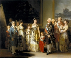 Reprodukcja charles iv of spain and his family, francisco goya