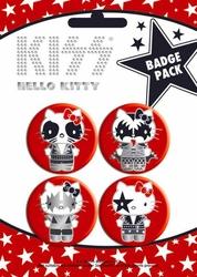 Hello Kitty Kiss Bodies - zestaw 4 przypinek
