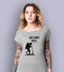 Chłopak - boli mnie mózg. t-shirt damski jasny melanż m