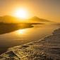 Słoneczna plaża - plakat premium wymiar do wyboru: 42x29,7 cm