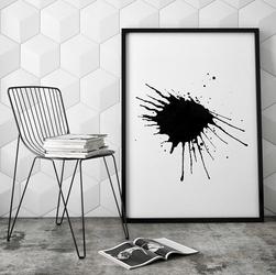 Kleks - plakat designerski , wymiary - 70cm x 100cm, ramka - biała