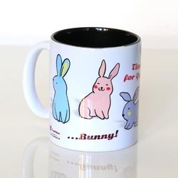 Kubek time for you... bunny – prezent upominek na wielkanoc, zajączka z kubkiem na kawę i herbatę