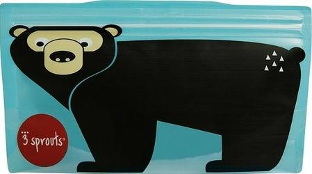 Zestaw torebek strunowych na przekąski 3 sprouts 2 szt. niedźwiedź