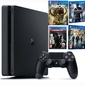 Konsola sony ps4 1tb slim + 4 gry division, uncharted 4, far cry, the last