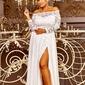 Sukienka ślubna z dekoltem carmen - samanta