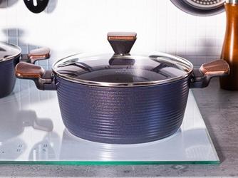 Garnek aluminiowy z pokrywką i powłoką nieprzywierającą valdinox prime 24 cm