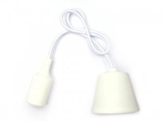 Sufitowa lampka wisząca silikonowa, zwis, loft - biały