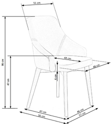 Pikowane krzesło z niskimi podłokietnikami toledo 3