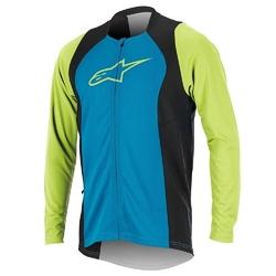 Koszulka alpinestars drop 2 full zip bright blue-green 1766817-7060
