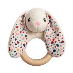 eko gryzak drewniany króliczek - kremowy, whisbear®