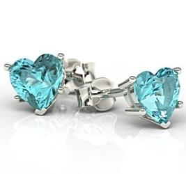 Kolczyki z białego złota z niebieskimi topazami lpk-74 - białe  topaz ice blue