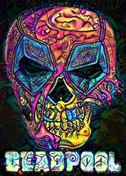 Psychoskulls, deadpool, marvel - plakat wymiar do wyboru: 21x29,7 cm