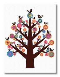 Tree of flowers - obraz na płótnie